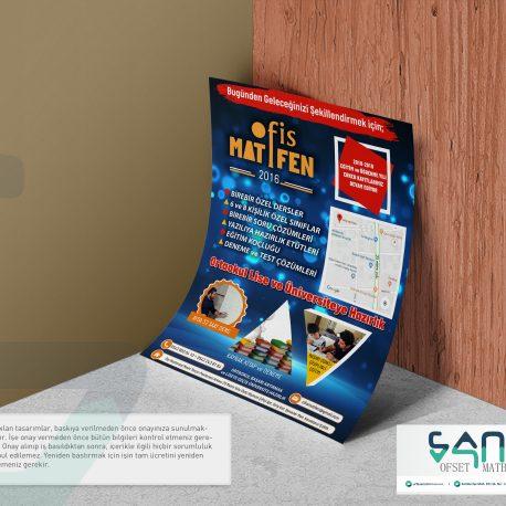 Dershane El ilanı A5 el ilanı parlak kuşe el ilanı özel tasarım el ilanı urfa matbaa egitim