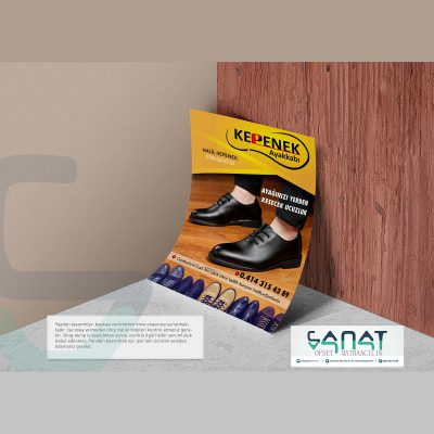 Ayakkabıcı el ilanı Urfa matbaa el ilanı basımı